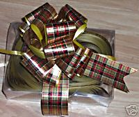 Box of 30 Tartan Metallic Pull Bows (30mm)Medium