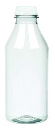 Clear Round Juice Bottle 1L